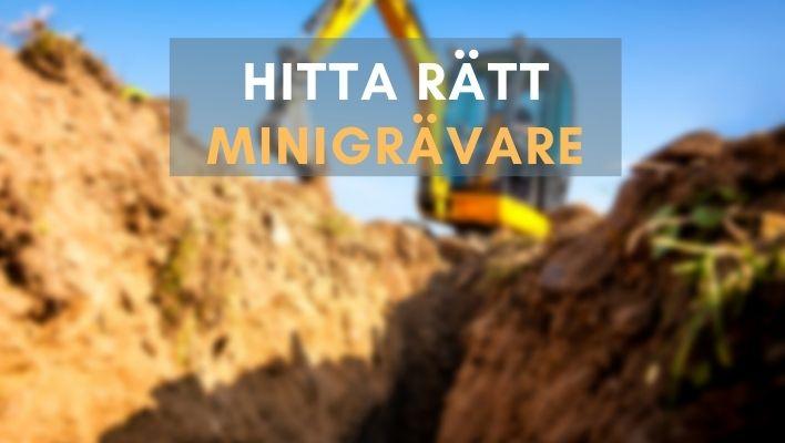 Bästa Minigrävare 2021 - Bäst i Test & Köpguide